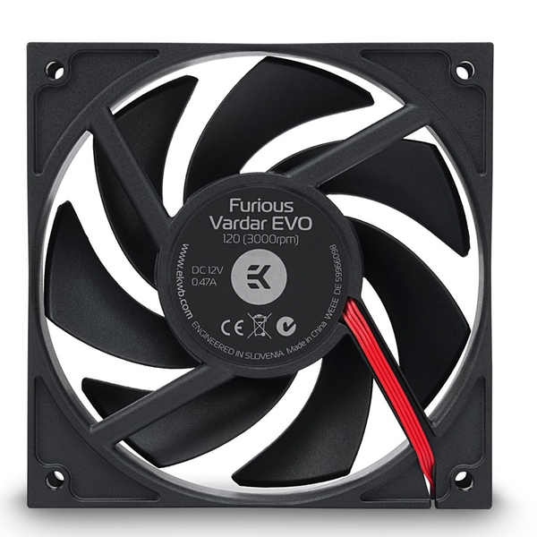 EK Water Blocks EK-Furious Vardar EVO 120 BB (750-3000rpm) Fan - 120mm