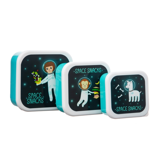 Sass & Belle Set of 3 Space Explorer Lunch Boxes