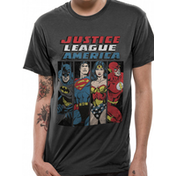 Justice League - Line Up Men's Small T-Shirt - Grey