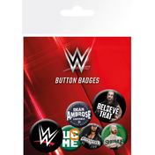 WWE Logos Badge Pack