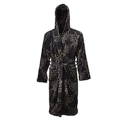 Nintendo Legend of Zelda - Tri-force Men's XS/S/M Bath Robe with Hood - Black