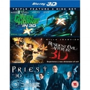 The Green Hornet / Resident Evil Afterlife / Priest Blu-Ray 3D