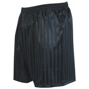 Precision Striped Continental Football Shorts 30-32 inch Black