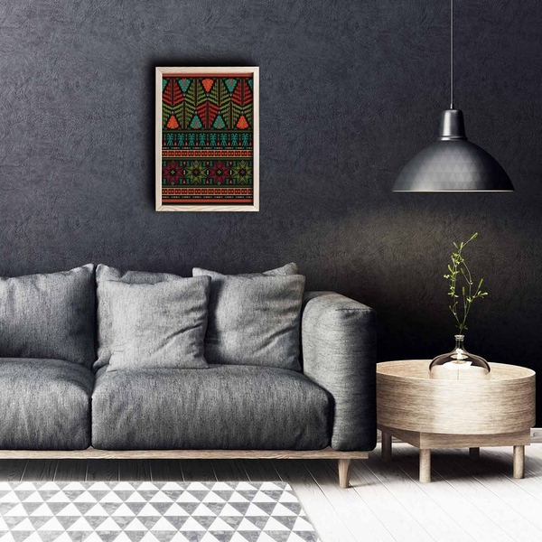 KCT-040 Multicolor Decorative Framed MDF Painting