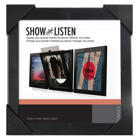 Black Vinyl Record Album LP Frame