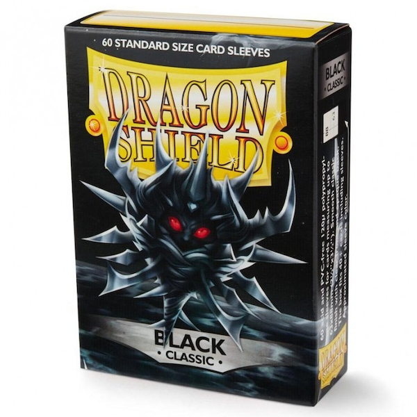 Dragon Shield Classic - Black 60 Sleeves In Box - 10 Packs