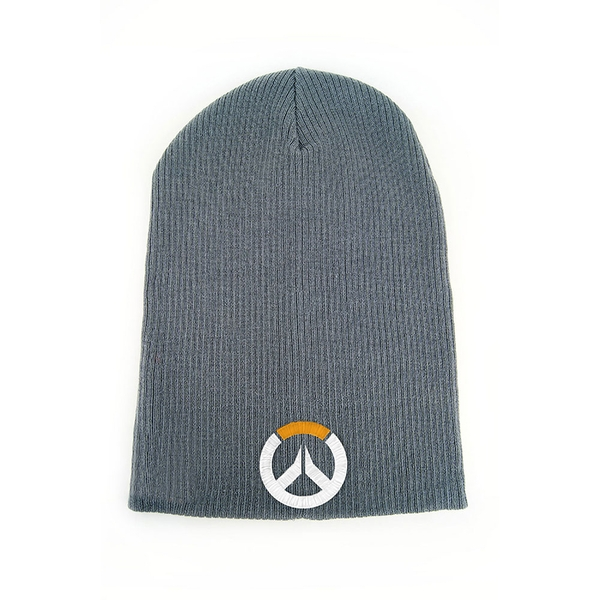 Overwatch - Embroidered Game Logo Cuffless Beanie - Grey (One Size)