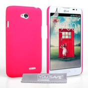 Yousave Accessories LG L70 Hard Hybrid Case - Hot Pink