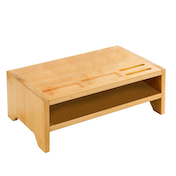Bamboo Monitor Stand | M&W 2 Tier
