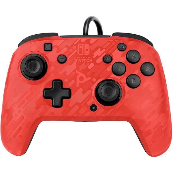 PDP Face off Deluxe Switch Controller and Audio (Camo Red) for Nintendo Switch
