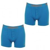 Lonsdale 2 Pack Mens Boxers Bright Blue Medium