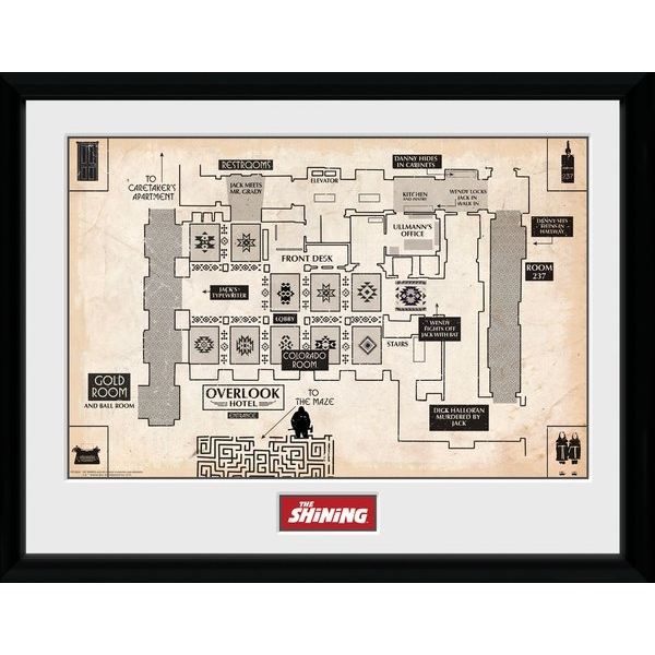 The Shining Map Framed Collector Print