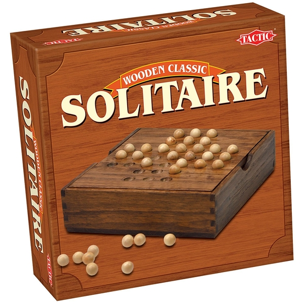 Solitaire Wooden Classics Board Game