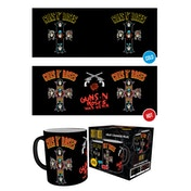 Guns N Roses  Cross Heat Change Mug