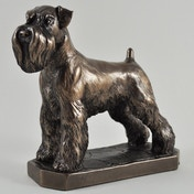 Schnauzer by David Geenty Cold Cast Bronze Sculpture