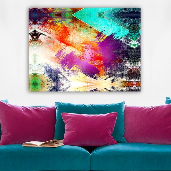 112001639_70100 Multicolor Decorative Canvas Painting Funky