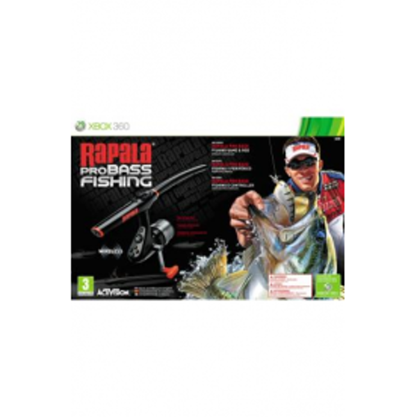 Rapala Pro Bass Fishing Game with Rod Controller Xbox 360