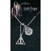 Harry Potter Crest and Hallows Dog Tag