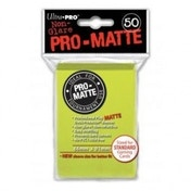 Ultra Pro Pro Matte Bright Yellow 50 Sleeves DPD - 12 Packs