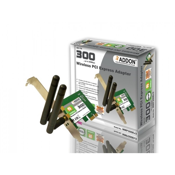 ADDON Wireless 11N 300Mbps PCI-e Adapter
