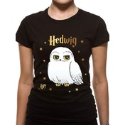 Harry Potter - Foil Hedwig Stars Women's X-Large T-Shirt - Black