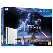 PS4 Slim Console 500GB White with Star Wars Battlefront II