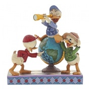 Navigating Nephews (Huey, Dewie and Louie) Disney Traditions Figurine