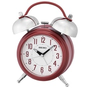 Seiko QHK051R Large Bell Alarm Clock with Snooze - Matt Red