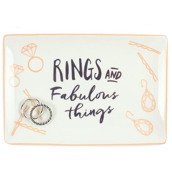 Rings and Fabulous Things Jewellery Dish