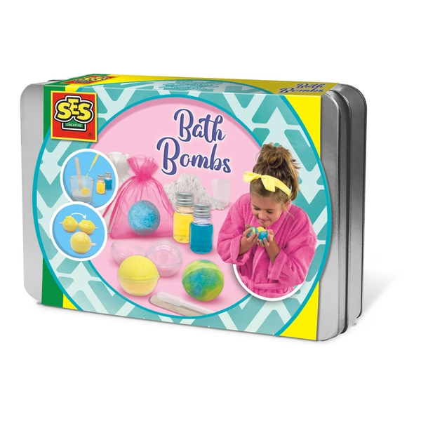 SES Creative - Children's Make Your Own Bath Bombs Set 8-12 Years (Multi-colour)