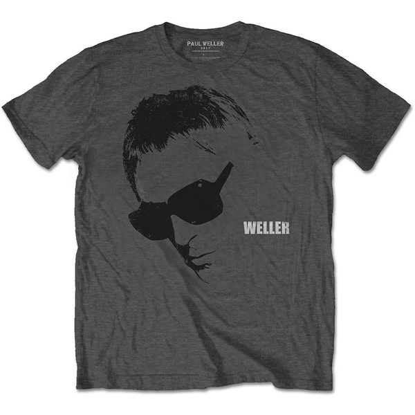 Paul Weller - Glasses Picture Men's X-Large T-Shirt - Charcoal Grey