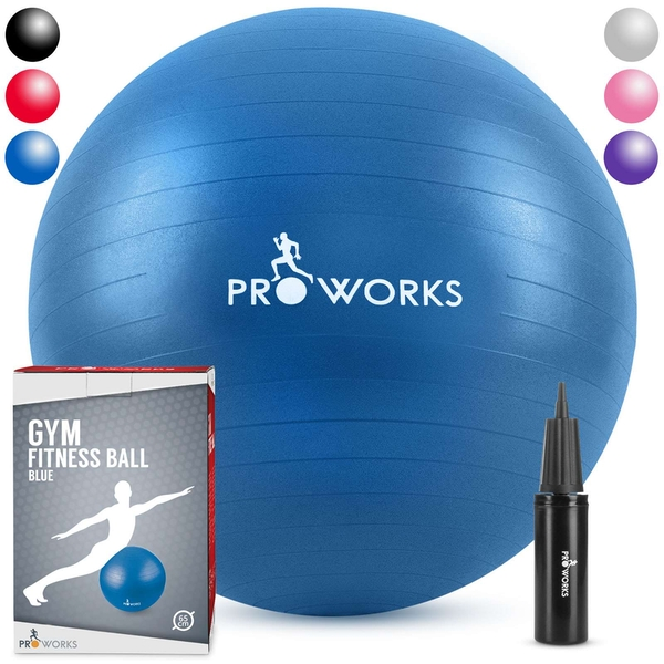 Proworks Gym Fitness Ball (65cm) - Blue