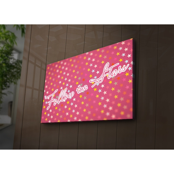 4570?ACT-78 Multicolor Decorative Led Lighted Canvas Painting