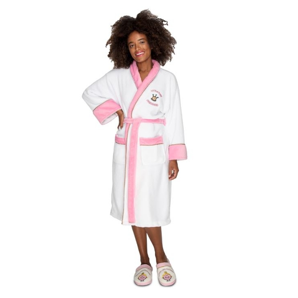 MMLM Miss Princess White Pink Ladies Robe with Emboidered Jewels