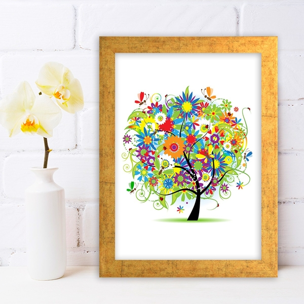AC1045095 Multicolor Decorative Framed MDF Painting