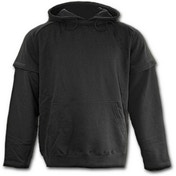 Metall Streetwear Inner Zipped Men's X-Large Hoodie - Black