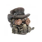 Masked Menace Steampunk Skull