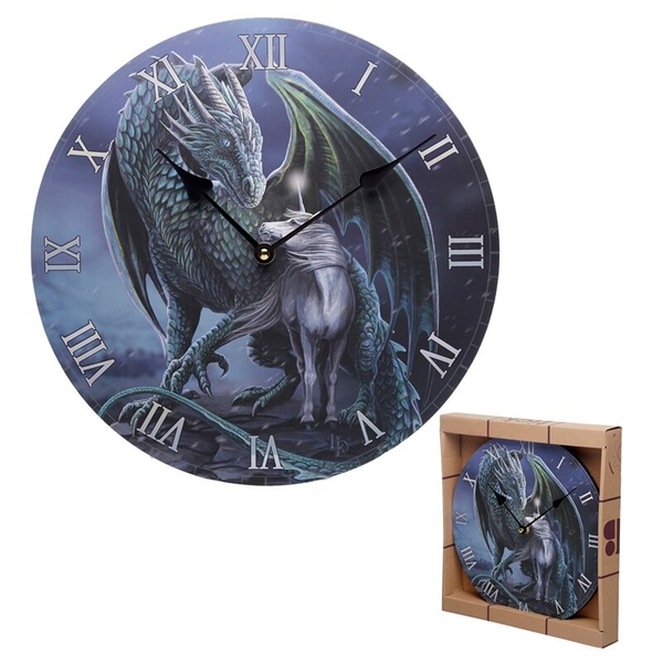 Dragon & Unicorn Protector Magick Lisa Parker Wall Clock