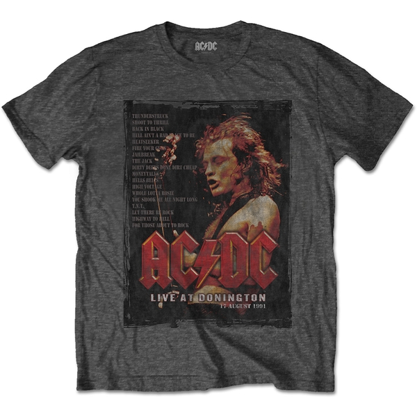 AC/DC - Donington Set Unisex Small T-Shirt - Grey