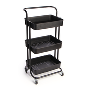 3 Tier Storage Trolley | M&W Black