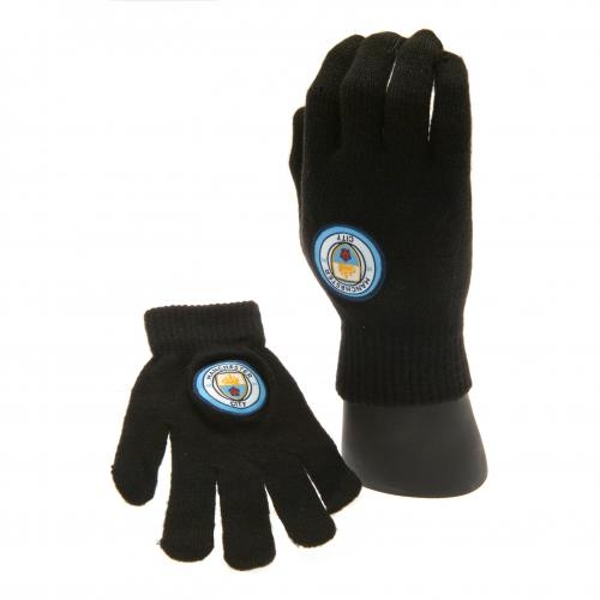 Manchester City FC Knitted Junior Gloves