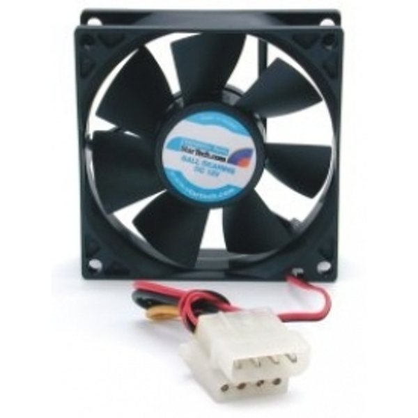StarTech 80x25mm Dual Ball Bearing Computer Case Fan with LP4 Connector