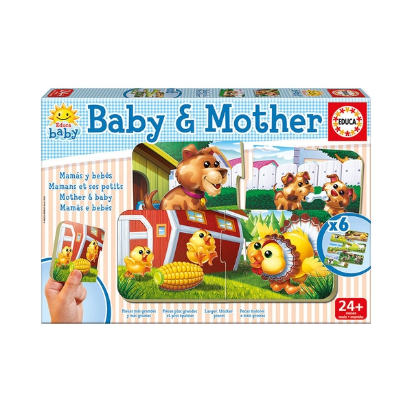 Educa - Baby & Mother Early Learning Jigsaw Puzzles, 6 Piece Set