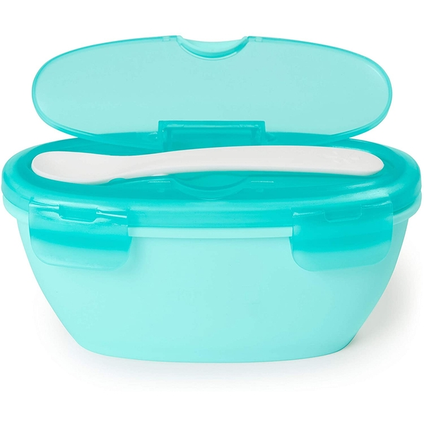 Skip Hop Easy Serve Travel Bowl & Spoon (Teal)