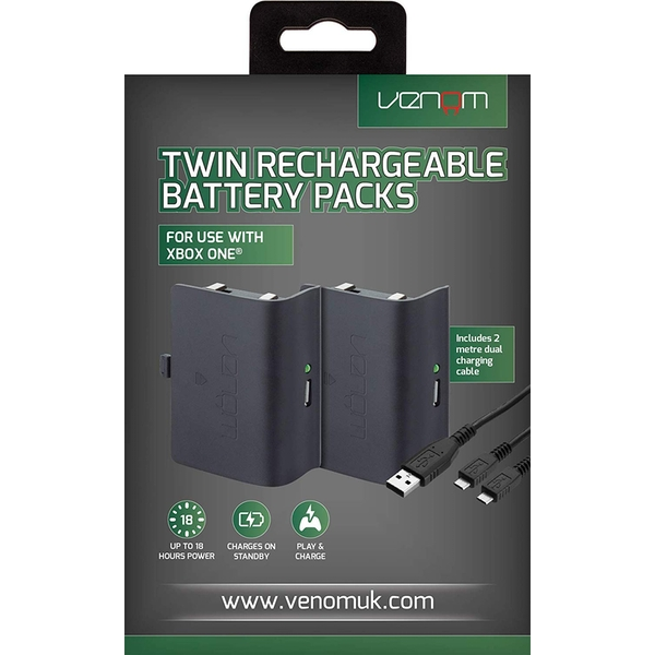 Venom Twin Rechargeable Battery Packs Xbox One - Image 1