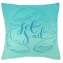 Set Sail Whale Cushion