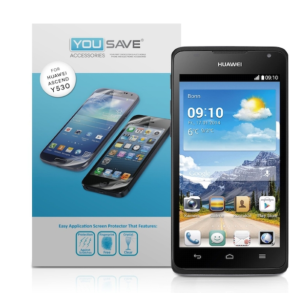 YouSave Accessories Huawei Ascend Y530 Screen Protectors X 3 - Clear -  ozgameshop com