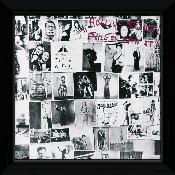 The Rolling Stones Exile On Framed Album Cover