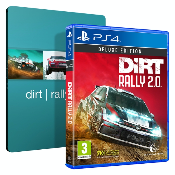 Dirt Rally 2.0 Deluxe Edition PS4 Game + Steelbook