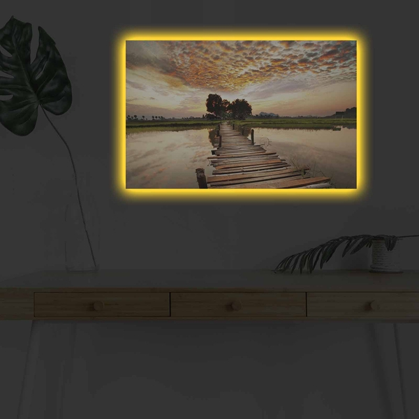 4570DHDACT-087 Multicolor Decorative Led Lighted Canvas Painting